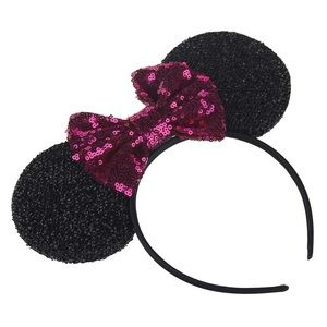 Other - Minnie Mouse Headband with Pink Sequin Bow